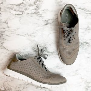 Vionic grey leather sneakers